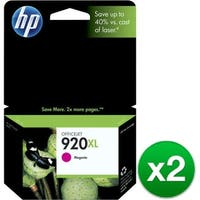 HP 920XL High Yield Magenta Original Ink Cartridge (CD973AN)(2-Pack)