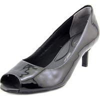 Rockport Finula Peep Women  Peep-Toe Patent Leather Black Heels