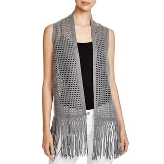 Elie Tahari Womens Maeve Sweater Vest Wool/Cashmere Blend Open Knit