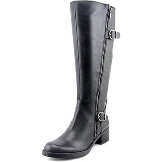 Lucky Brand Hoxy Wide Calf Round Toe Leather Knee High Boot
