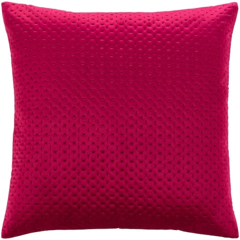 The Curated Nomad Sawyer Velvet Stitched 20-inch Throw Pillow with Poly or Down Fill