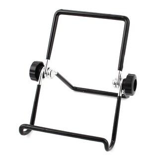 Unique Bargains Portable Adjustable Multi-angle Holder Desktop Stand Bracket Black for Tablet PC