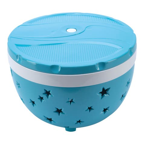 Swimways Rainbow Reef Summer Stars Floating Pool Light, Outdoor Party Lighting - Blue - 6 Inch x 7 Inch