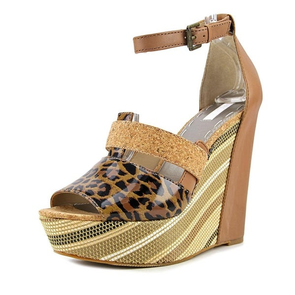 Rachel Rachel Roy Shainah Women Open Toe Synthetic Brown Wedge Sandal