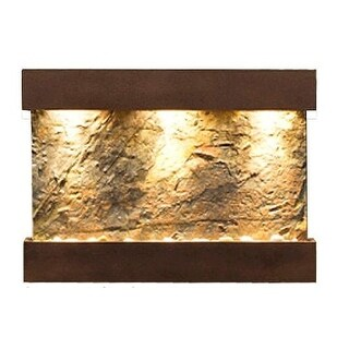 Adagio Reflection Creek With Green Natural Slate in Copper Vein Finish Fountain