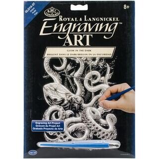 "Glow In The Dark Foil Engraving Art Kit 8""X10""-Octopus"