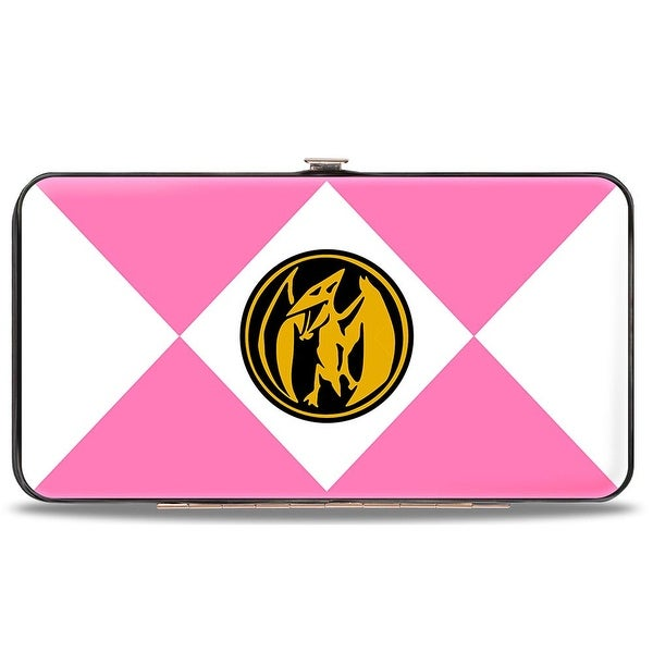 Diamond Pink Ranger Pterodactyl Power Logo Hinged Wallet - One Size Fits most