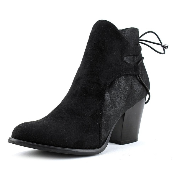 Dirty Laundry Wing It Women Round Toe Leather Black Boot