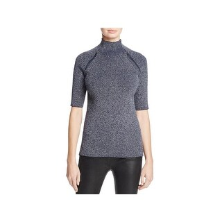 Kenneth Cole Womens Pullover Sweater Ribbed Knit Fitting