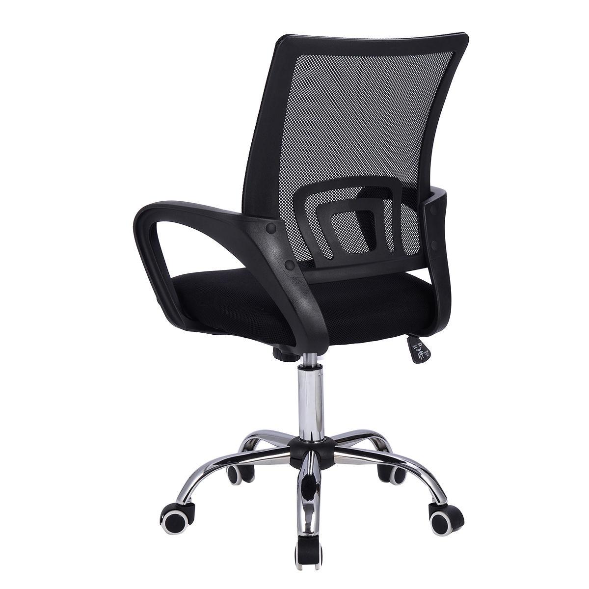 Modern Mesh Mid Back Chair Computer Desk Task Ergonomic