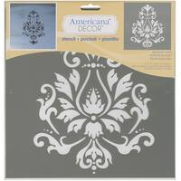 "Americana Decor Stencil 12""X12""-Brocade Motif"