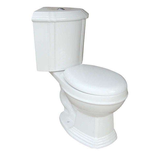 Renovator's Supply White Ceramic Round Dual Flush Corner Toilet