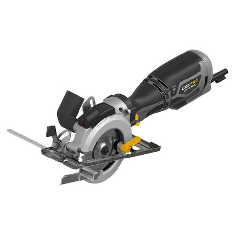 "CX Tools Pro CXPCCS1 4.5"" 5.8 Amp Compact Circular Saw with Laser Guide - Grey"