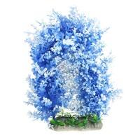 Unique Bargains 12.2 Height Manmade Blue Plastic Grass Ornament for Aquarium