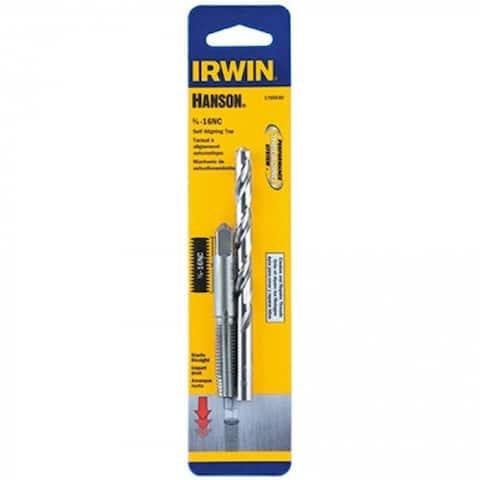 "Irwin Tools 1765540 Hanson Self-Aligning Tap & Drill Set, 3/8"" x 16 NC"