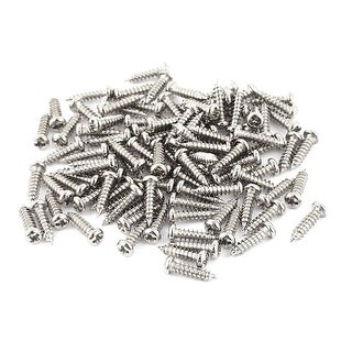 100pcs M2.5 x 10mm Stainless Steel Cross pan Head Self Tapping Screws Bolts