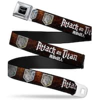 Attack On Titan Logo Full Color Black White Red Attack On Titan Wall Seatbelt Belt