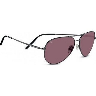 Serengeti unisex Medium Aviator Polar Sunglasses, Shiny Gunmetal, OS - One size