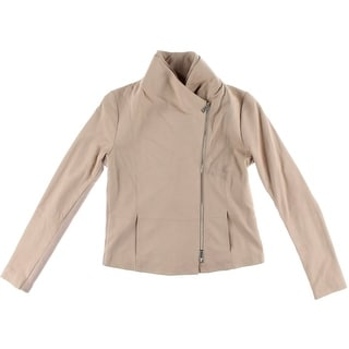 Vince Womens Motorcycle Jacket Goat Leather Outerwear - l