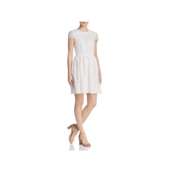 25fdcd8b9c3 French Connection Womens Parker Party Dress Lace Short Sleeves. Click to  Zoom
