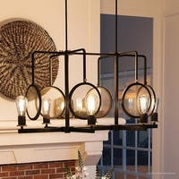"""Luxury Art Deco Chandelier, 18.25""""H x 36.75""""W, with Bohemian Style, Olde Bronze Finish by Urban Ambiance"""