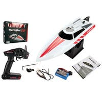 Costway Volantex Vector28 2.4G RC Racing Boat RTR Radio Remote Control High Speed White