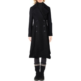 French Connection Womens Pea Coat Double-Breasted Maxi