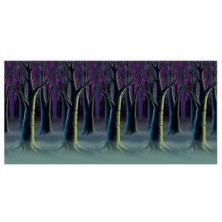 Beistle 00997 Spooky Forest Trees Backdrop - Pack of 6