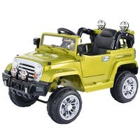 Costway 12V MP3 Kids Ride On Truck Jeep Car RC Remote Control w/ LED Lights Music