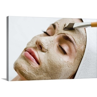 """""""Woman with face mask"""" Canvas Wall Art"""