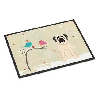 Carolines Treasures BB2489JMAT Christmas Presents Between Friends Mastiff White Indoor or Outdoor Mat 24 x 0.25 x 36 in.