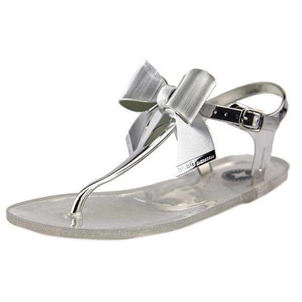 BCBGeneration Beena 2 Women Open Toe Synthetic Silver Thong Sandal