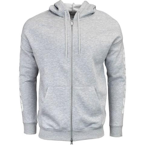 ASICS Logo Sweat Full Zip Hoodie Mens Casual Hoodie Pullover -