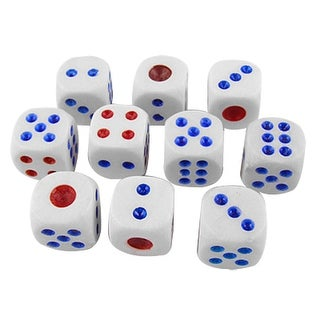 Game Round Corner Dices White 10 Pcs