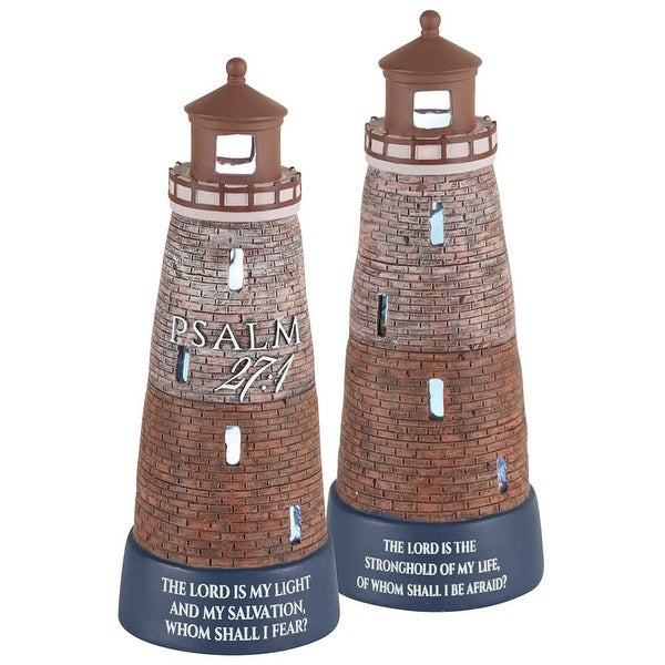 "8.5"" LED Battery Operated Lighthouse Religious Resin Figurine - N/A"