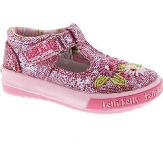 Lelli Kelly Kids Girls Lk4057 Fashion Mary Jane Flats Shoes - Pink Glitter (4 options available)