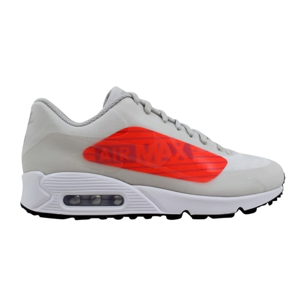 Nike Air Max 90 NS GPX Neutral Grey Bright Crimson Big Logo AJ7182-001 b674884c1