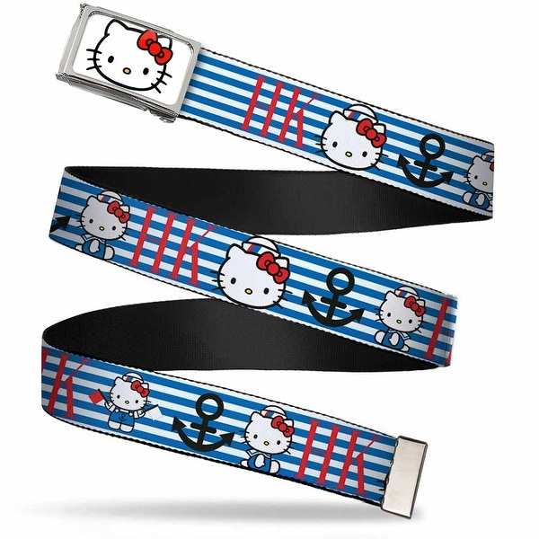 Hello Kitty Face Fcg White Bo Chrome Hello Kitty Summer Sailor W Web Belt