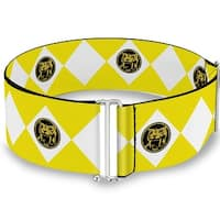 Diamond Yellow Ranger Cinch Waist Belt   ONE SIZE