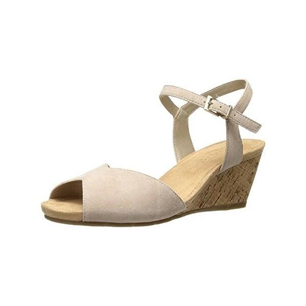 Aerosoles Womens Cupcake Wedge Sandals Open Toe Slingback
