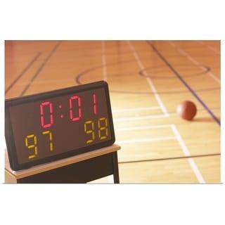"""Basketball court"" Poster Print"