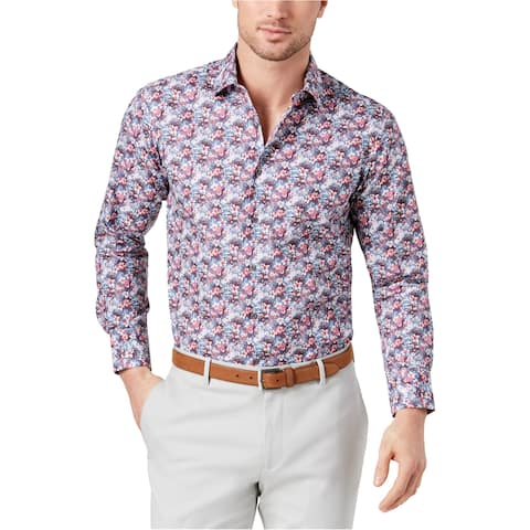 Tallia Mens Floral Button Up Shirt