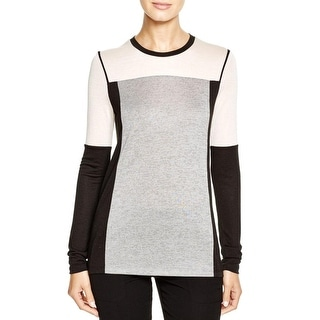 Vince Womens Casual Top Jersey Colorblock