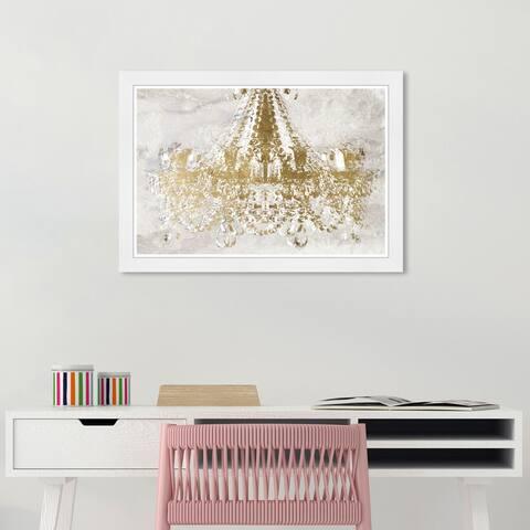 Wynwood Studio 'Rocky Gold Dramatic Entrance' Fashion and Glam Gold Wall Art Framed Print