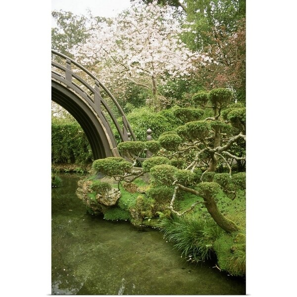 poster print entitled cloud topiary conifer golden gate park japanese tea garden - Golden Gate Park Japanese Tea Garden