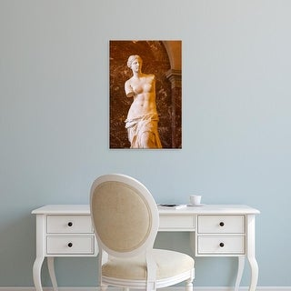 Easy Art Prints Brian Jannsen's 'Venus De Milo Statue On Display At Musee Du Louvre' Premium Canvas Art