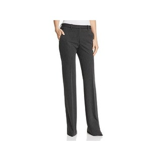Theory Womens Demitria Dress Pants Pinstripe Office Wear