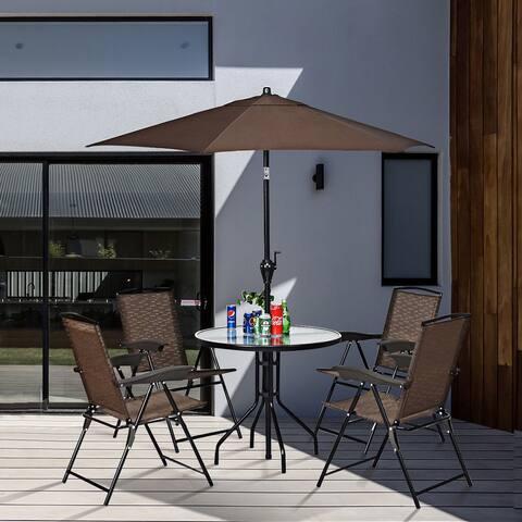 Costway 6.3ft Outdoor Patio Umbrella Sunshade Cover Garden Market Cafe