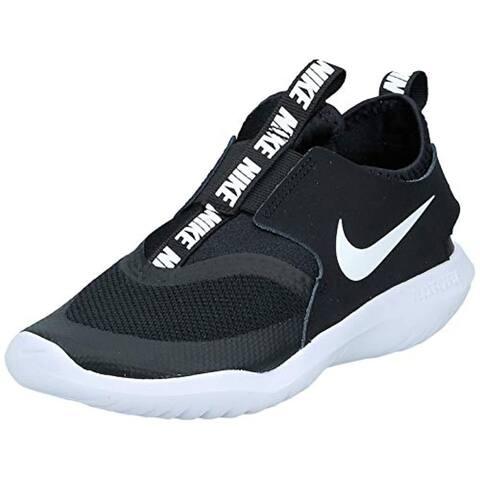 Nike Kids' Preschool Flex Runner Running Shoes, Black/White