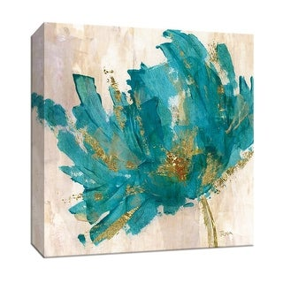 """PTM Images 9-147009  PTM Canvas Collection 12"""" x 12"""" - """"Blue Infusion II"""" Giclee Flowers Art Print on Canvas"""